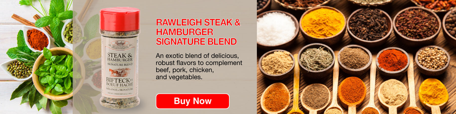Rawleigh Steak & Hamburger grill Blend